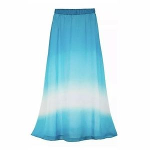 White House Black Market Ombre Maxi Skirt